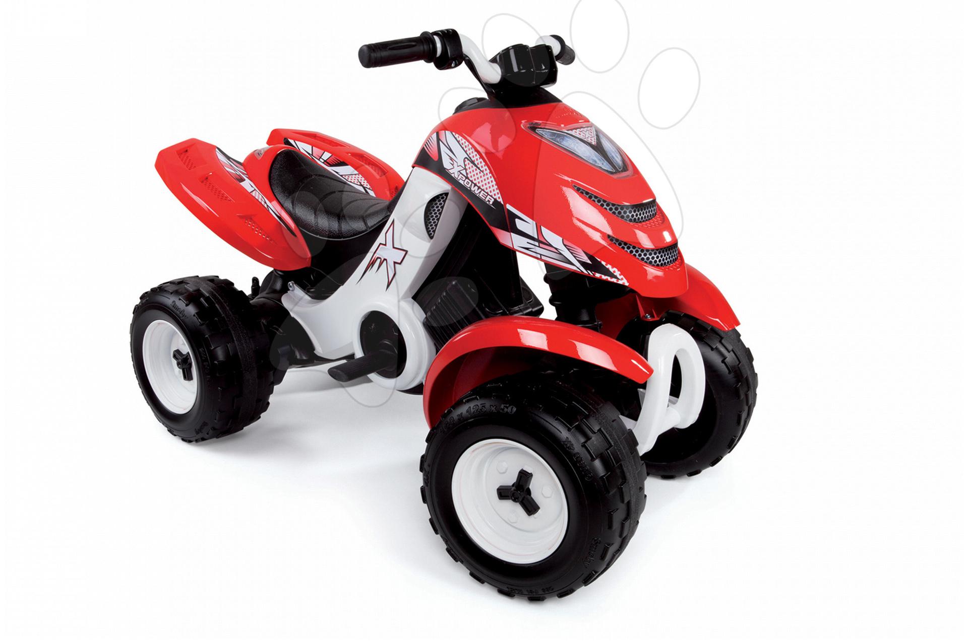 Atv-uri electrice - Vehicul cu patru roţi X Power Smoby cu baterie 5km/oră roşu
