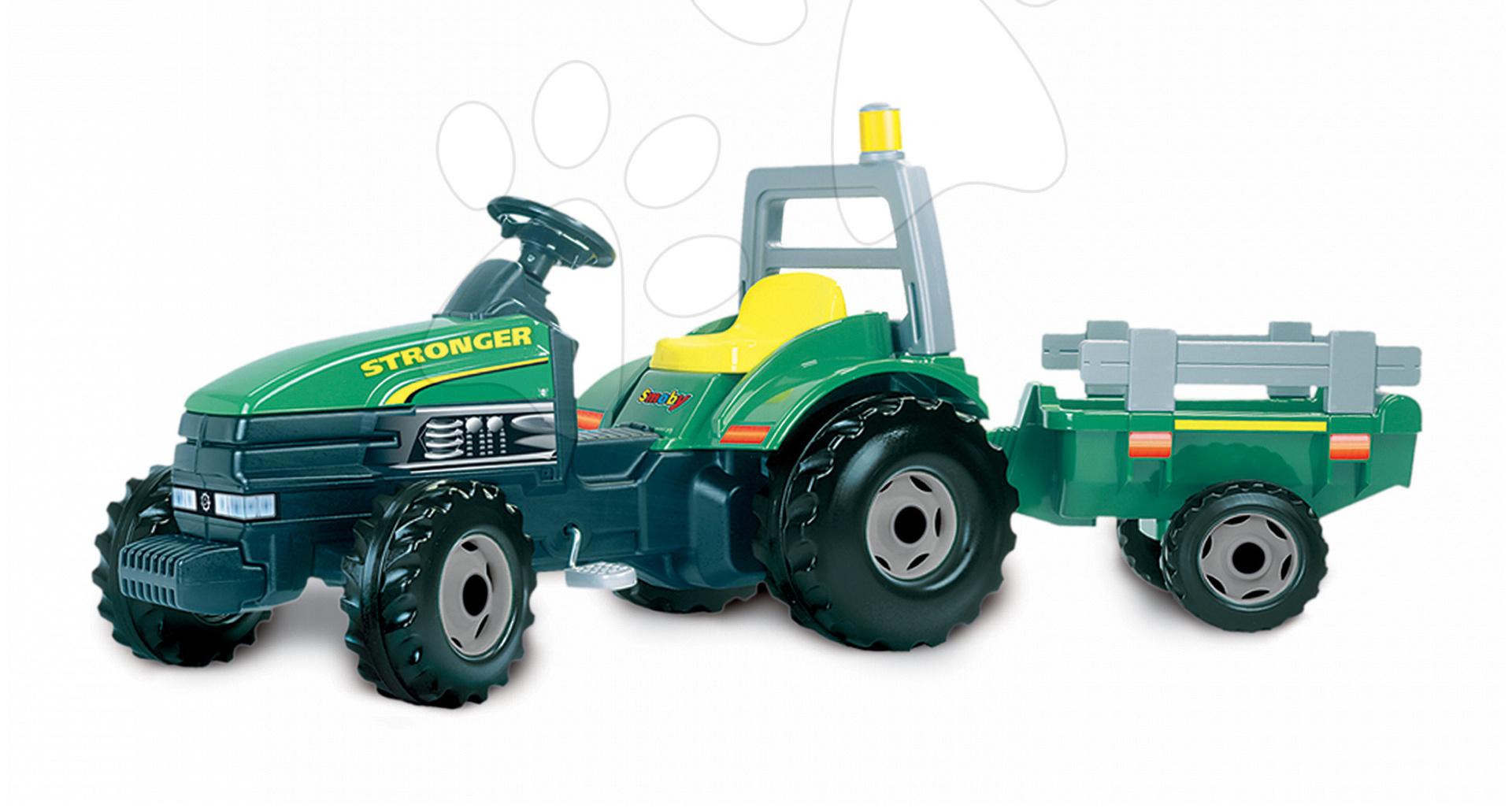 Otroška vozila na pedala - Traktor na pedala TGM Stronger Smoby zelen
