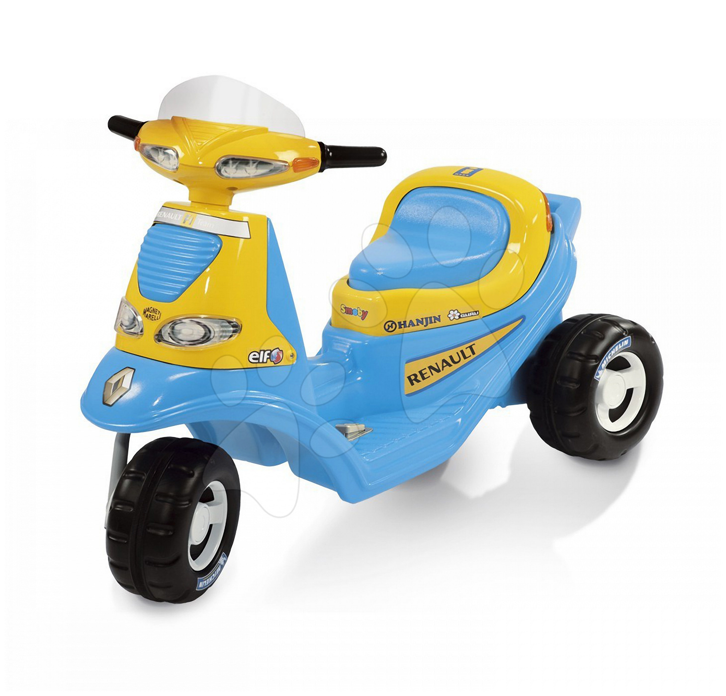 Scooter Renault F1 Smoby elektronický modrý od 24 měsíců