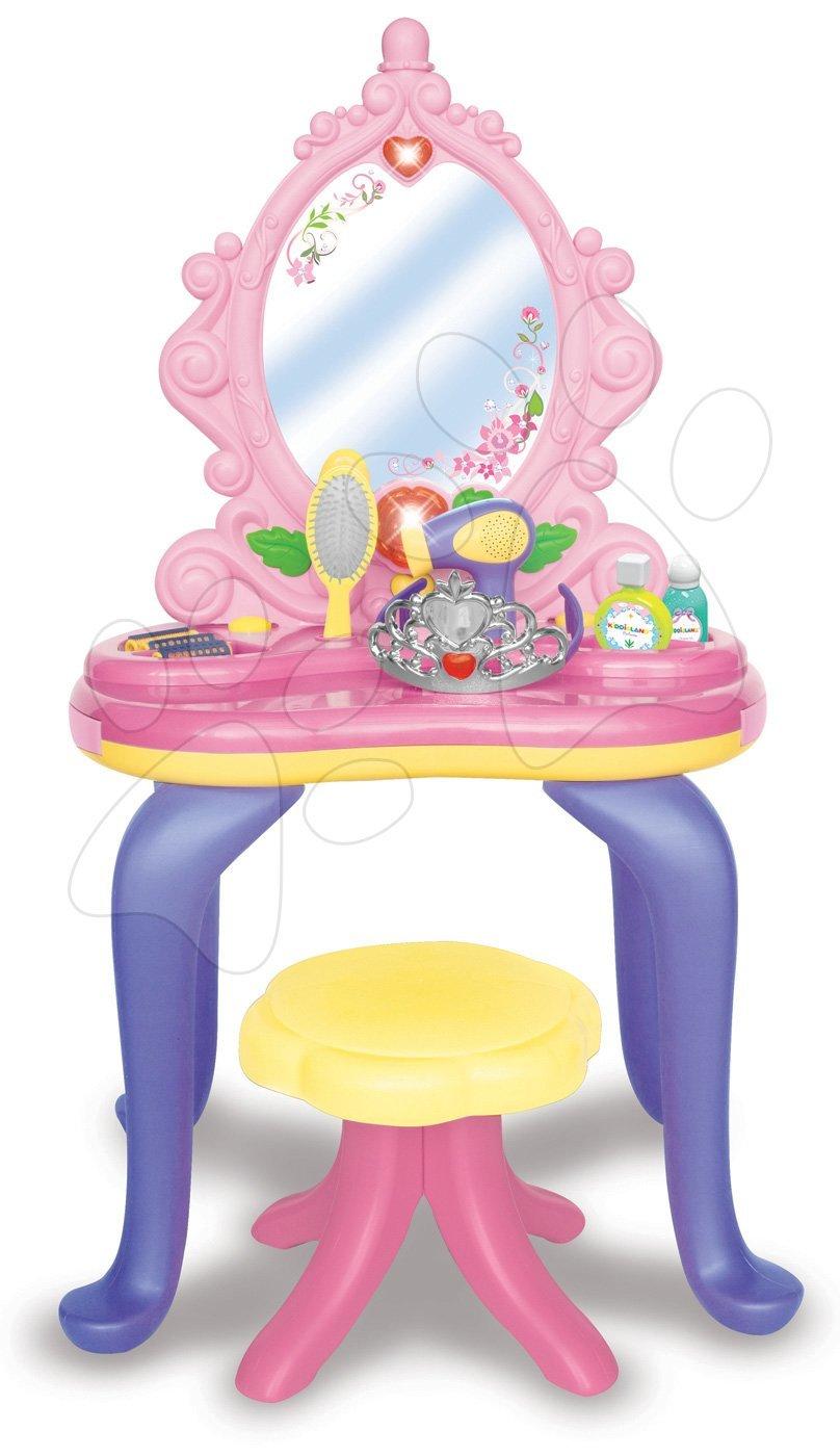 Kosmetický stolek Kiddieland elektronický se židlí světlem a zvukem