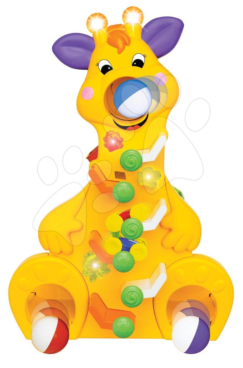 Žirafa Activity Kiddieland s míčky, se zvukem a světlem od 12 měsíců