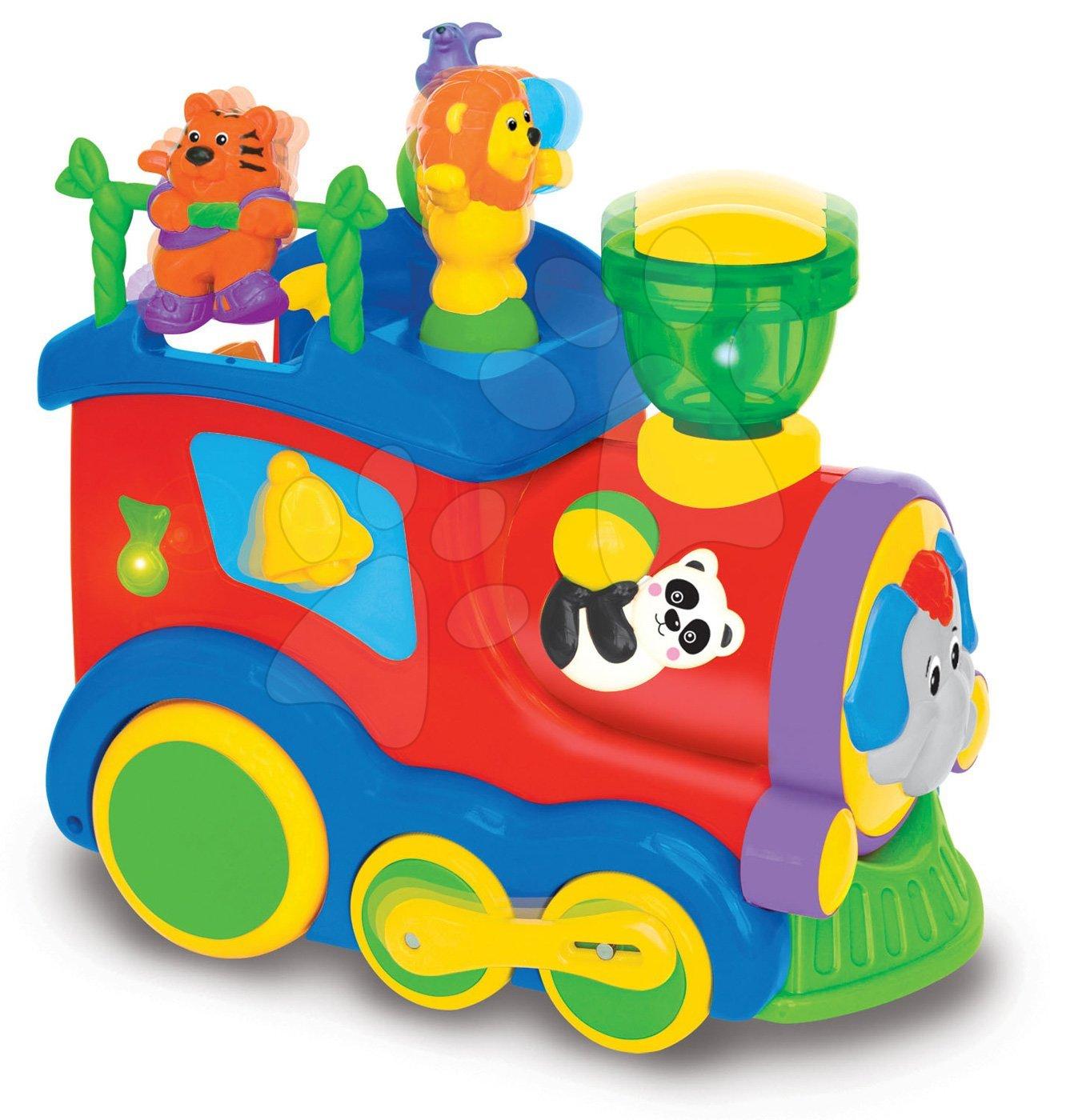 Hračky zvukové - Cirkusová lokomotiva Activity Circus Loco Kiddieland se zvukem a světlem od 12 měsíců