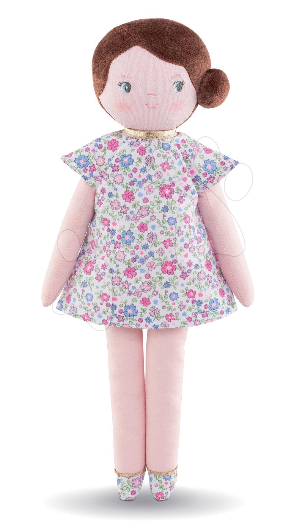 Handrová bábika Bella Corolle's Flowers Corolle Mon Doudou s hnedými vláskami a modrými očami 34 cm od 0 mes