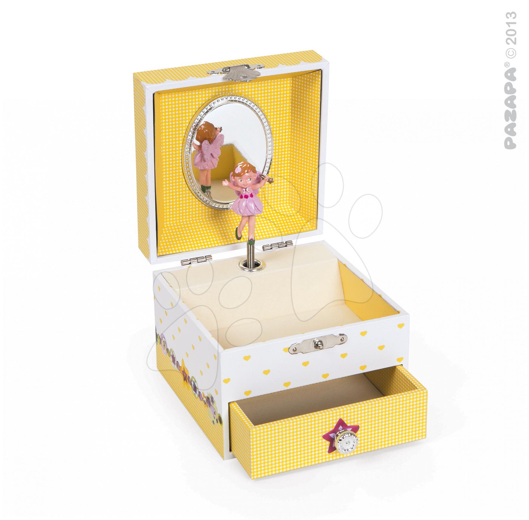 Šperkovnice Mila Plays Fairy Pazapa zpívající s tančící vílou žlutá