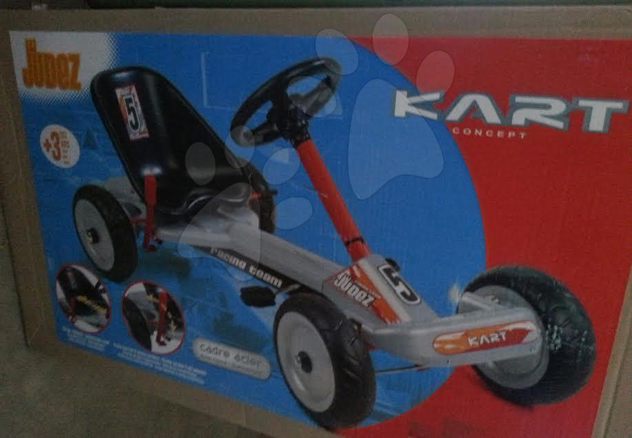 Go Kart - Strieborná štvorkolka autíčko Go Kart Judez Smoby