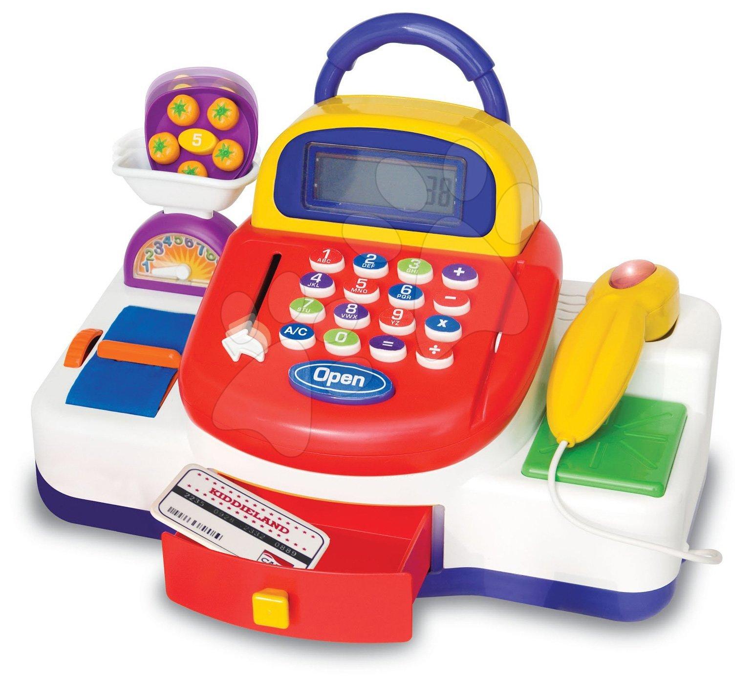 Obchody pro děti - Pokladna Activity Kiddieland elektronická se zvukovými a světelnými efekty od 18 měsíců