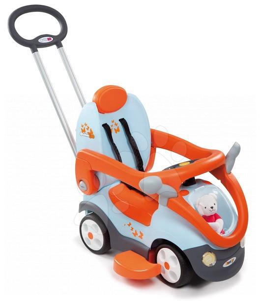Stari vnosi - Smoby 412012 POGANJALEC Bubble Go II Balade avtomobilček oranžovo-biele s tyčou od 6 -36 mesiacov, 62*45*87 cm od 6 mes