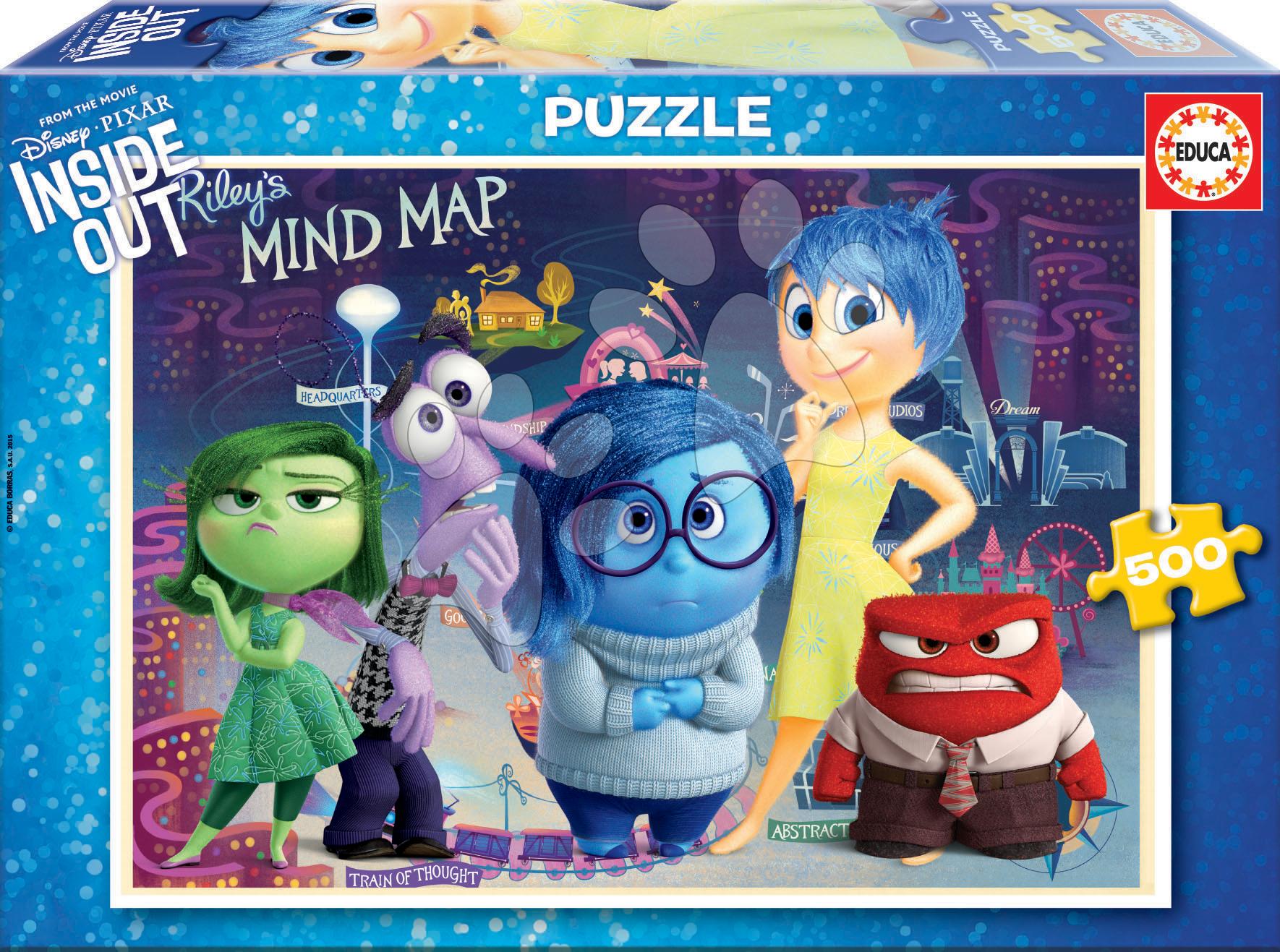Puzzle 500 dielne - Puzzle V hlave Educa 500 dielov od 11 rokov