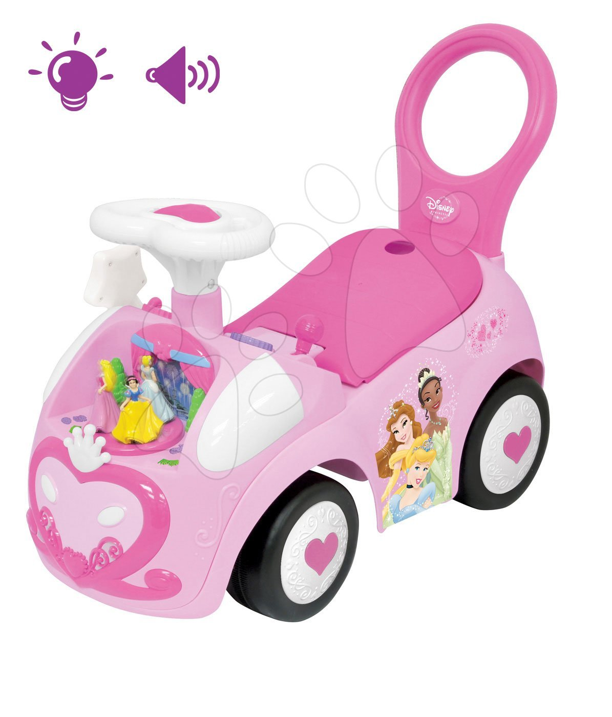 Elektronické odrážedlo Disney Kiddieland Princezny se světlem a zvukem růžové od 12 měsíců