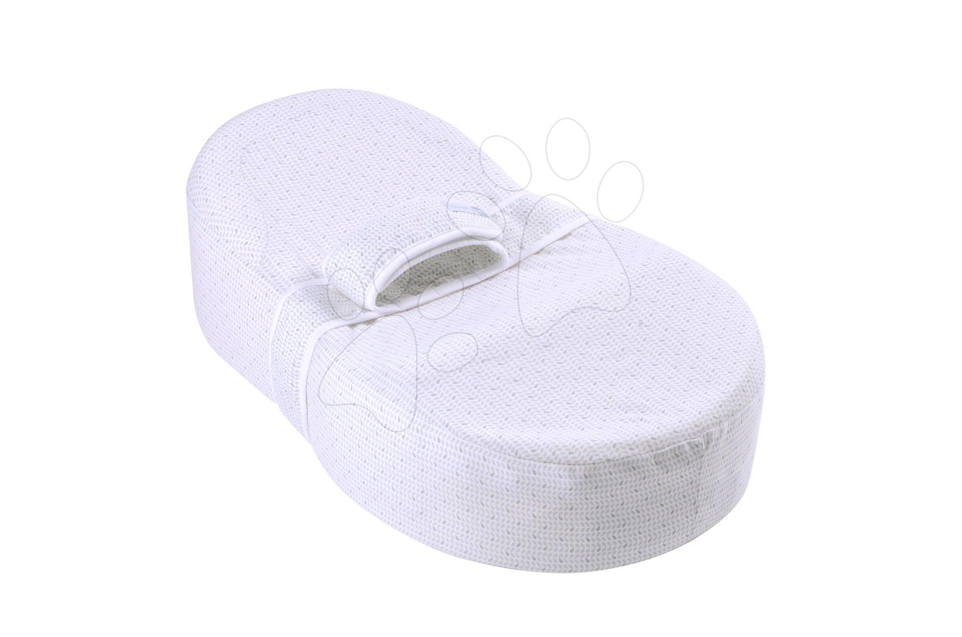 Hniezdo na spanie Cocoonababy® pre bábätká Leaf Red Castle 0-4 mesiacov s doplnkami, šedé s lístočkami