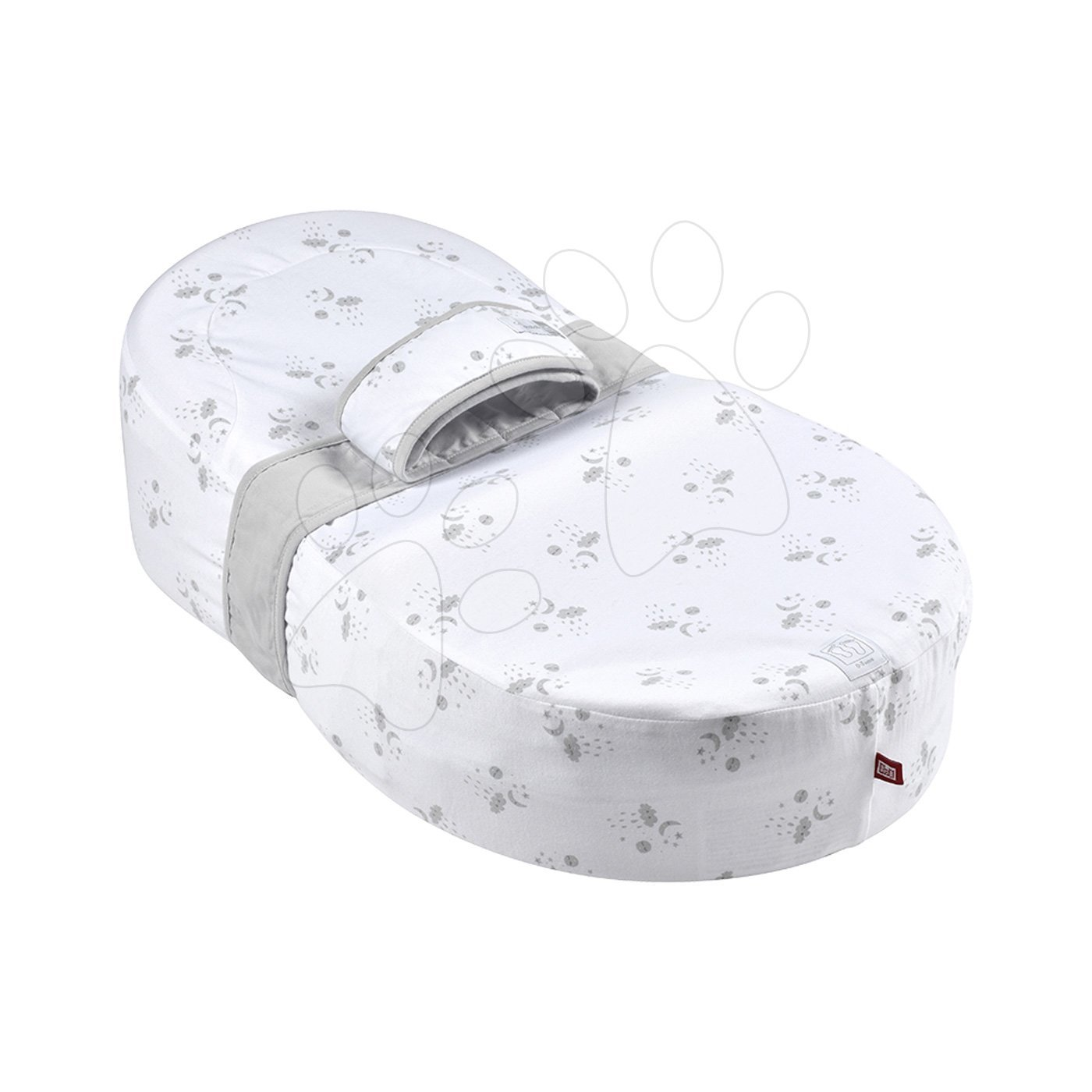 Hniezdo na spanie Cocoonababy® pre bábätká Dreamy Cloud Red Castle 0-4 mesiacov s doplnkami, s obláčikmi