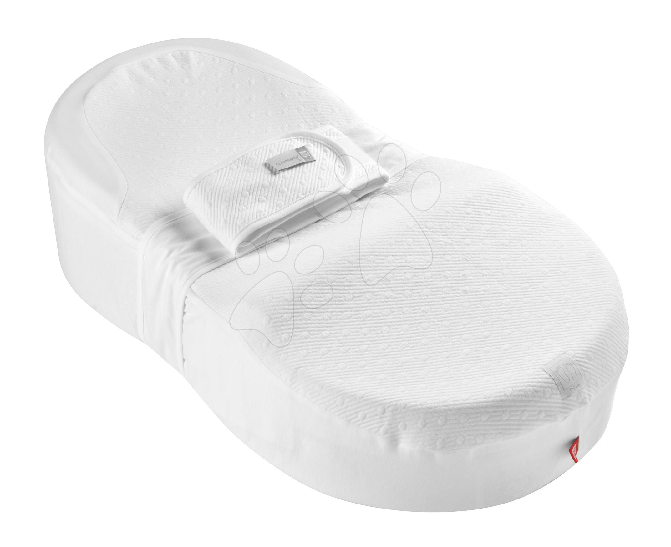 Hniezdo na spanie Cocoonababy® pre bábätká Red Castle Cotton Bubbles 0-4 mesiacov biele z bavlny (s doplnkami)