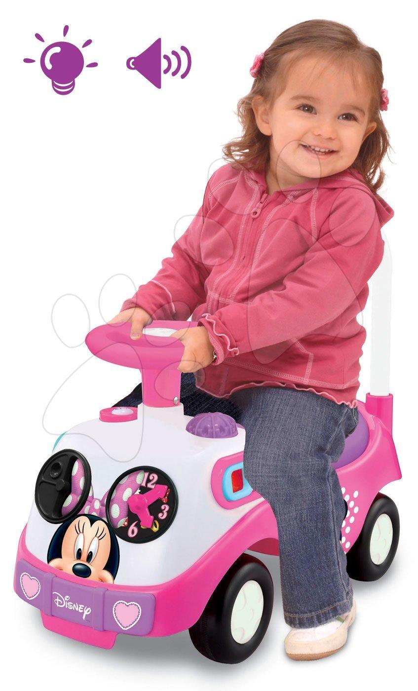 Rožnati poganjalec Disney Minnie Kiddieland z lučko in zvokom od 12 mes