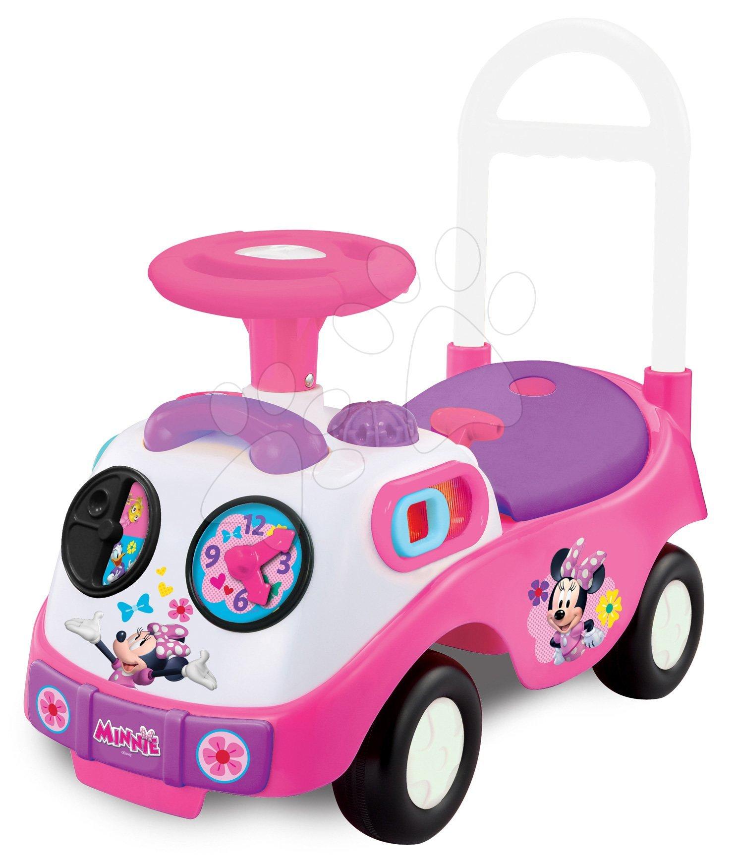 Odrážadlá so zvukom - Odrážadlo Disney Minnie Kiddieland elektronické so svetlom a zvukom ružové od 12 mes