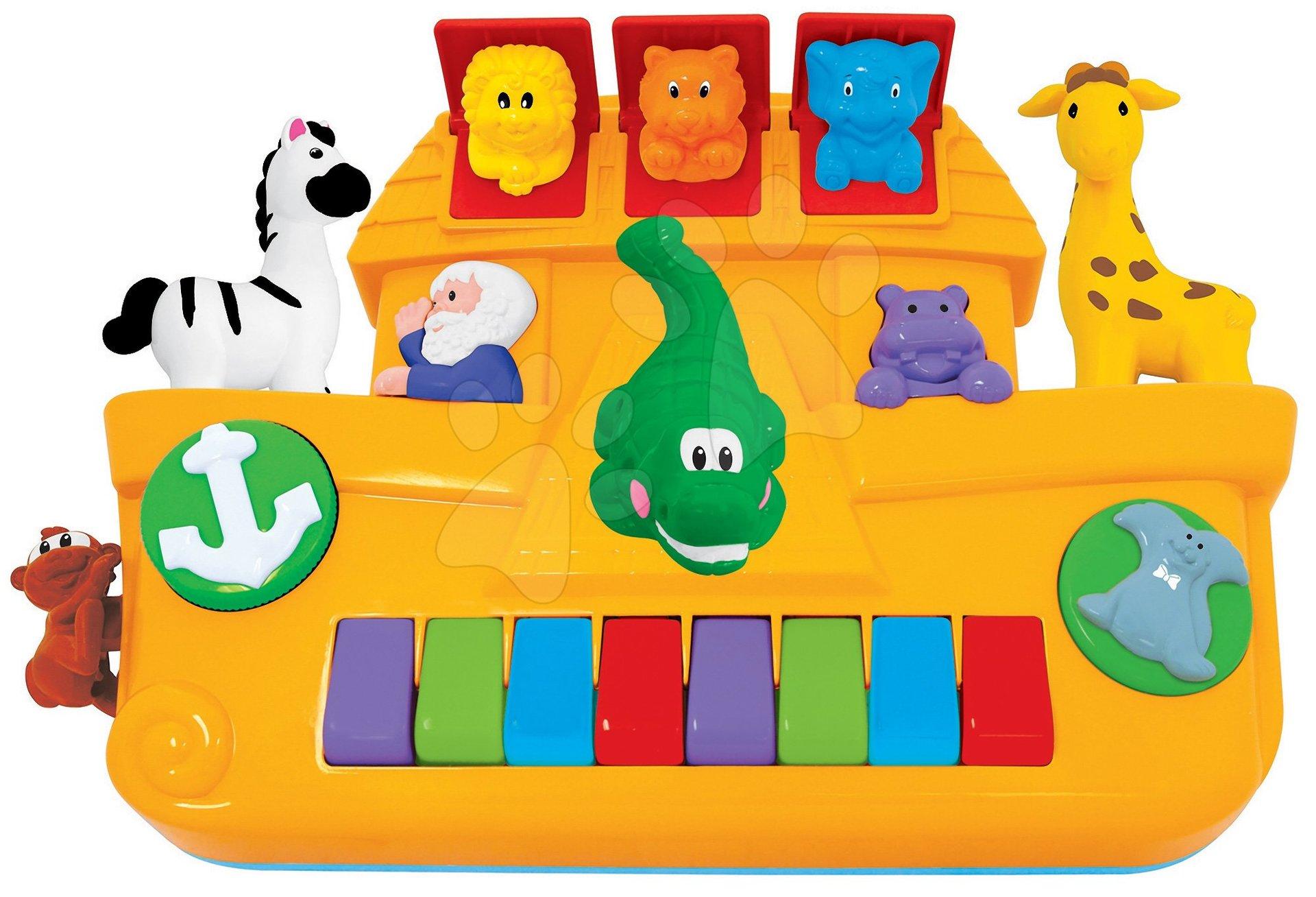Hračky zvukové - Piano Activity Noemova Archa Kiddieland so zvieratkami a zvukom od 12 mes