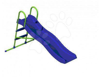 Staré položky - Skluzavka Starplast délka 200 cm vlnitá s kovovou konstrukcí s napojením na vodu modrá