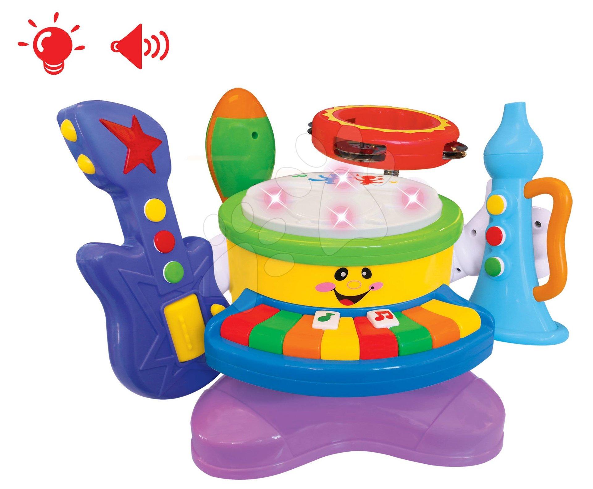 Hračky zvukové - Hudobná kapela Activity 6v1 Kiddieland s nástrojmi, so zvukom a svetlom od 18 mes