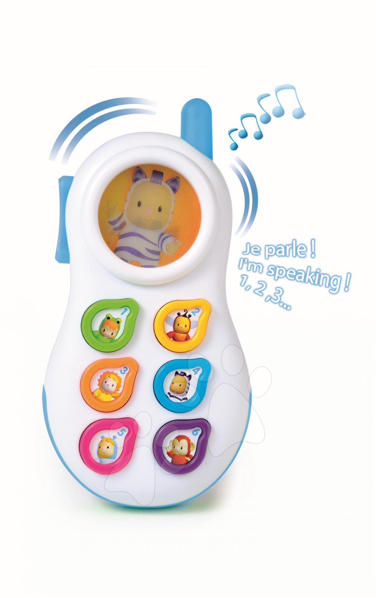 Telefon Cotoons se zvuky Smoby modrý od 6 měsíců