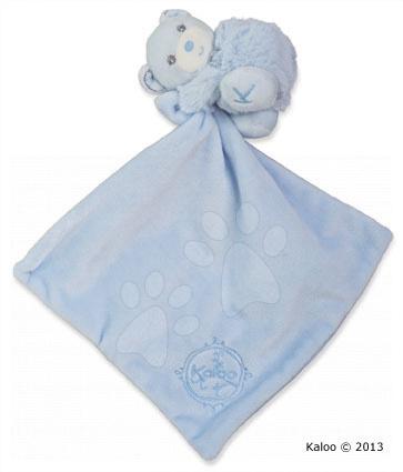 Hračky na maznanie a usínanie - Plyšový medvedík na maznanie Perle-Hug Doudou Kaloo 32 cm v darčekovom balení pre najmenších modrý