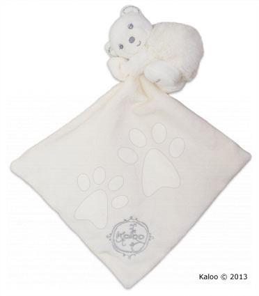 Plyšový medvídek na mazlení Perle-Hug Doudou Kaloo 32 cm v dárkovém balení pro nejmenší krémový