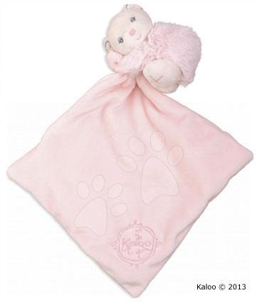 Hračky na maznanie a usínanie - Plyšový medvedík na maznanie Perle-Hug Doudou Kaloo 32 cm v darčekovom balení pre najmenších ružový
