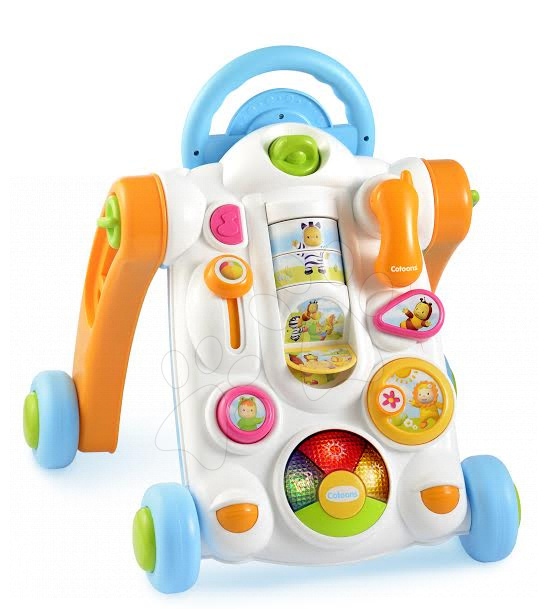 Detské chodítka - Cotoons chodítko aktivity Smoby s množstvom funkcii od 12 mes
