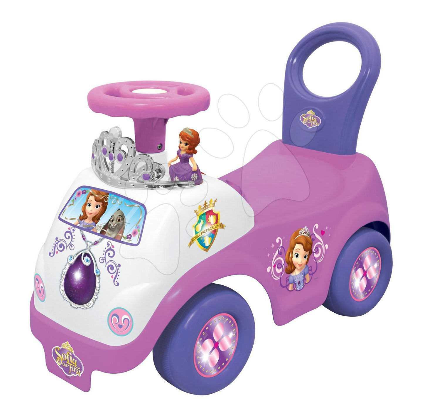 Odrážadlá so zvukom - Elektronické odrážadlo Disney Kiddieland Sofia Prvá so svetlom a zvukom ružové od 12 mes