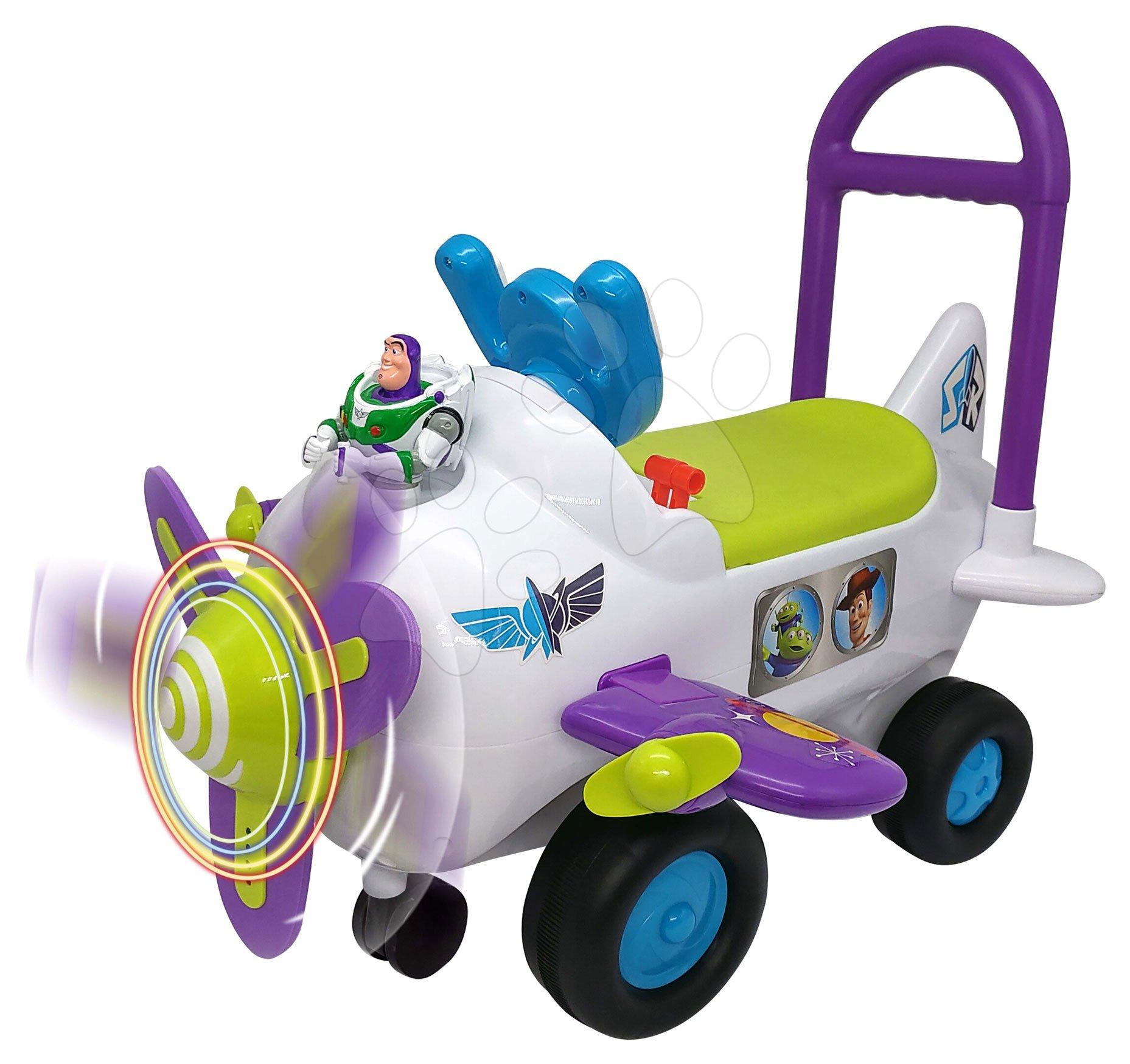 Odrážadlá so zvukom - Odrážadlo lietadlo Buzz Lightyear Toy Story Kiddieland so zvukom a svetlom od 12 mes