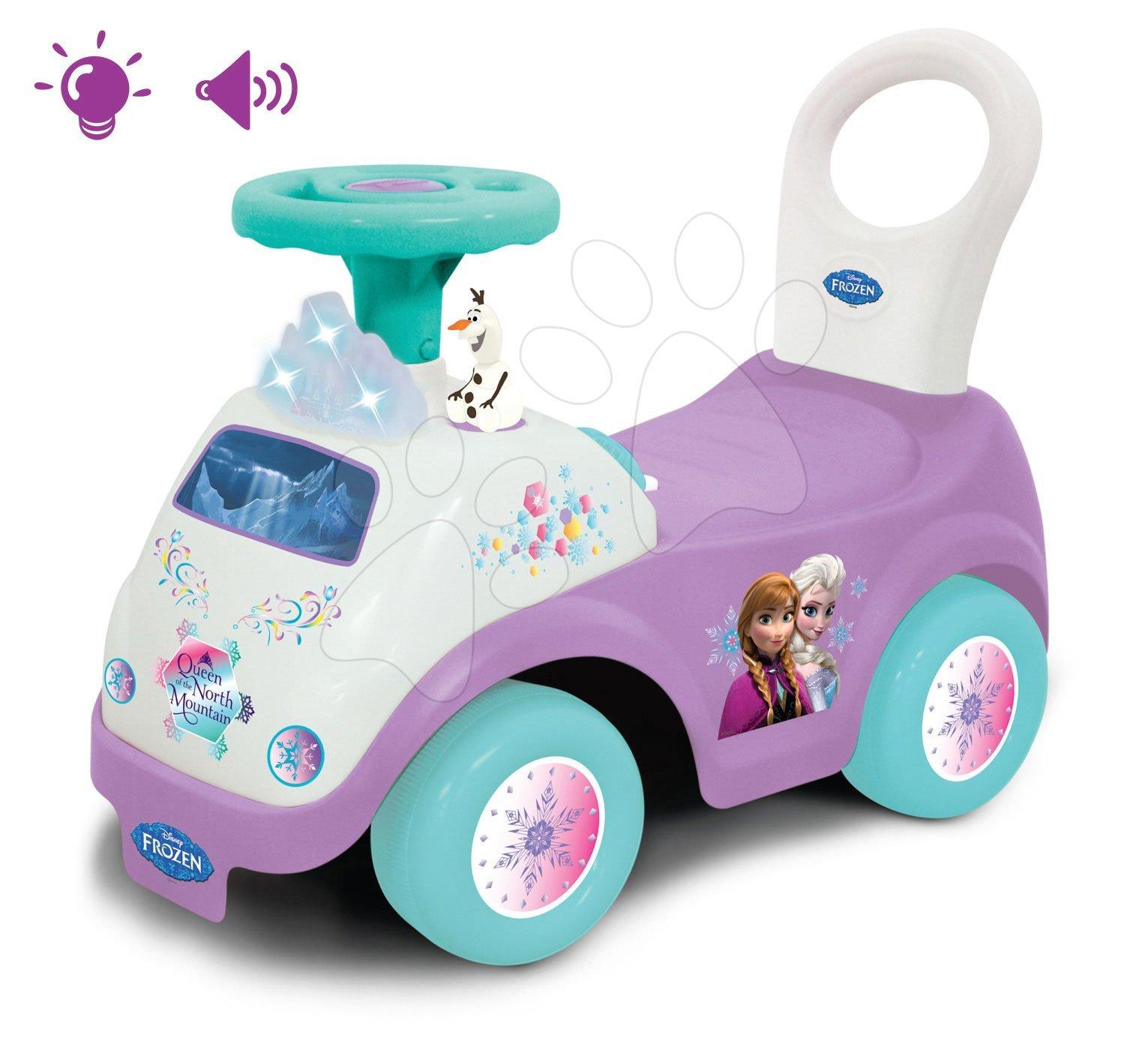 Odrážadlá so zvukom - Elektronické odrážadlo Disney Frozen so svetlom a hudbou Kiddieland fialové od 12 mes