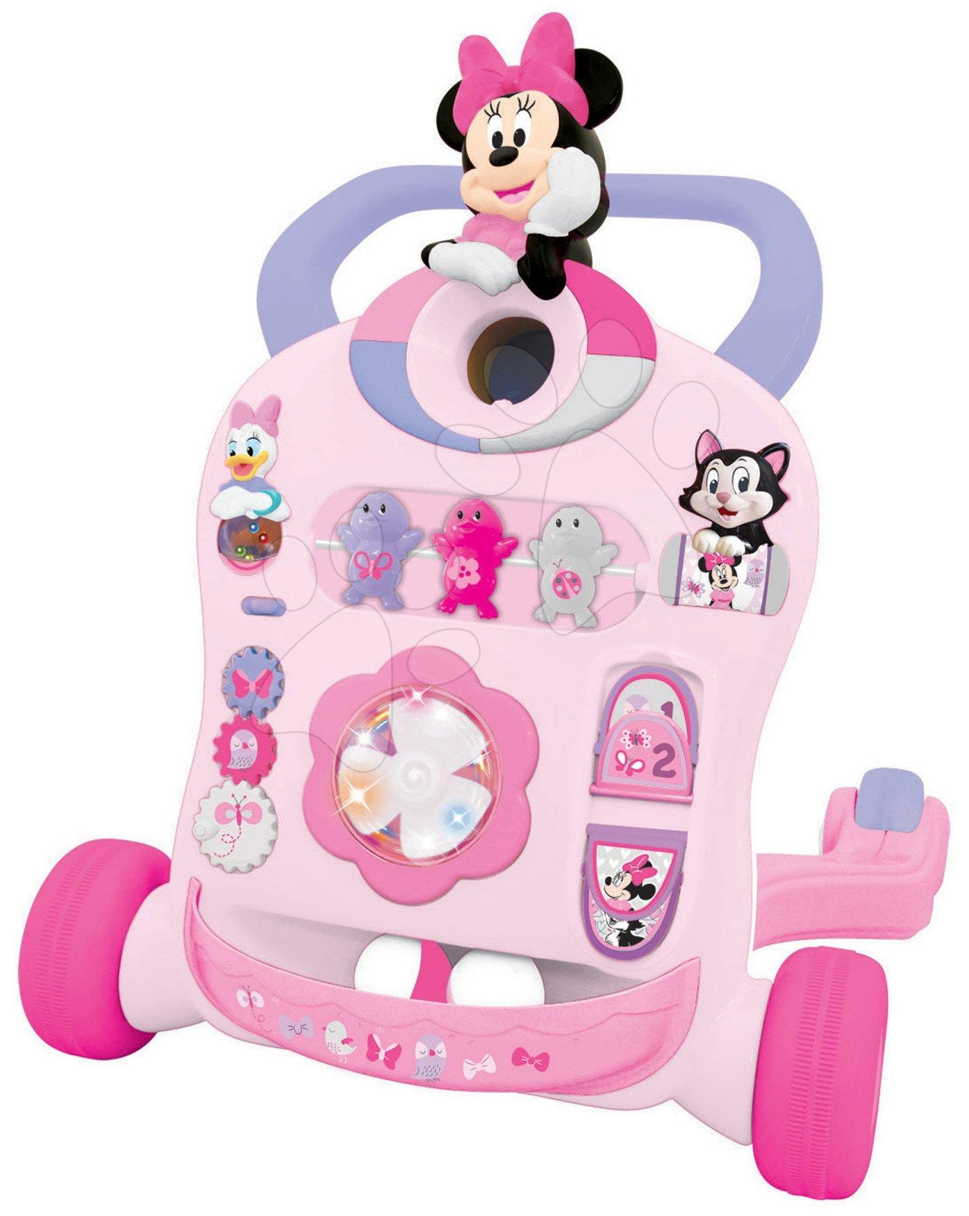 Chodítko so zvukom a svetlom Minnie Mouse&Friends Activity Walker Kiddieland od 9 mesiacov