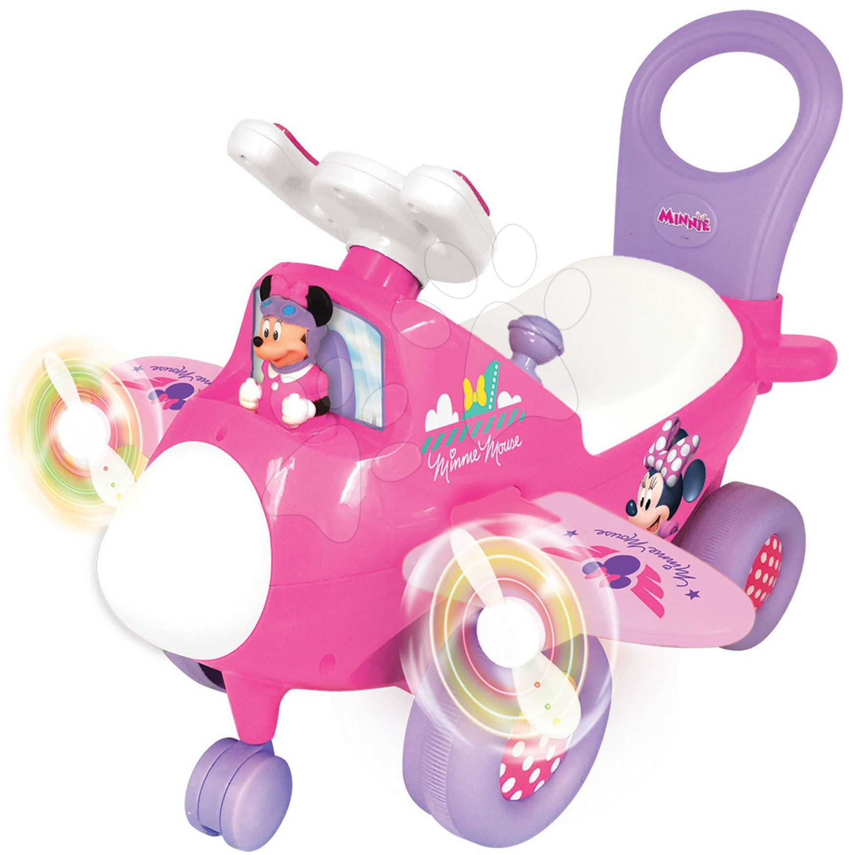 Odrážadlo so zvukom a svetlom Minnie Activity Kiddieland s dvoma vrtuľami od 12 mes