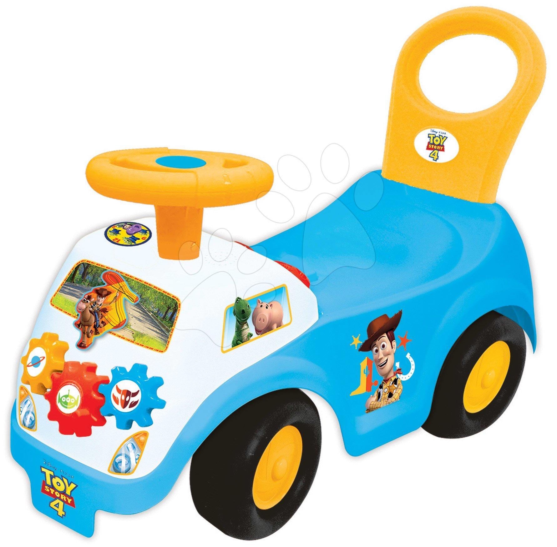 Odrážadlá so zvukom - Odrážadlo modré Toy Story Kiddieland so zvukom a svetlom od 12 mes