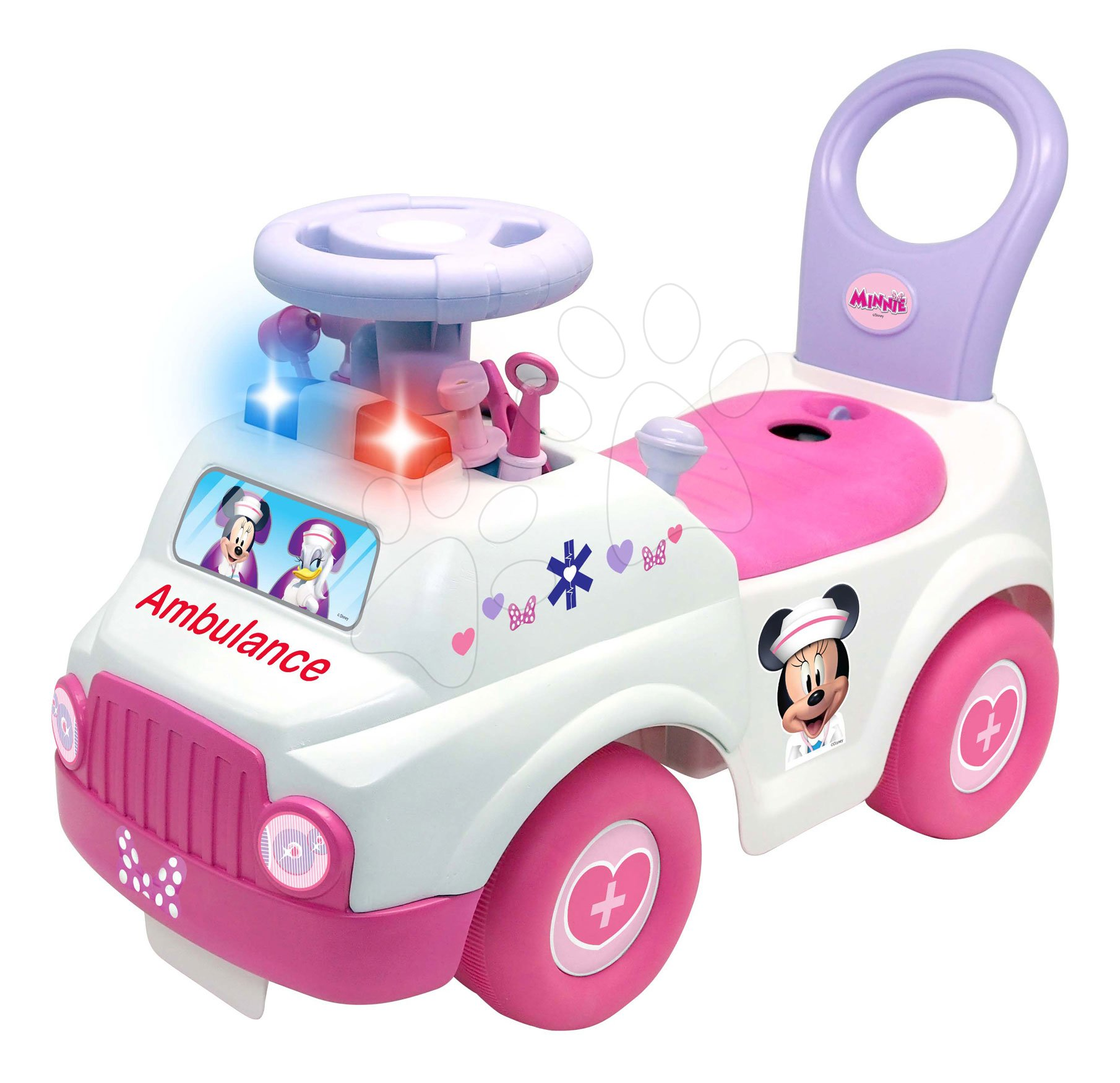 Babytaxiu ambulanță Ambulance Minnie Kiddieland cu 7 accesorii cu sunete și lumini de la 12 luni