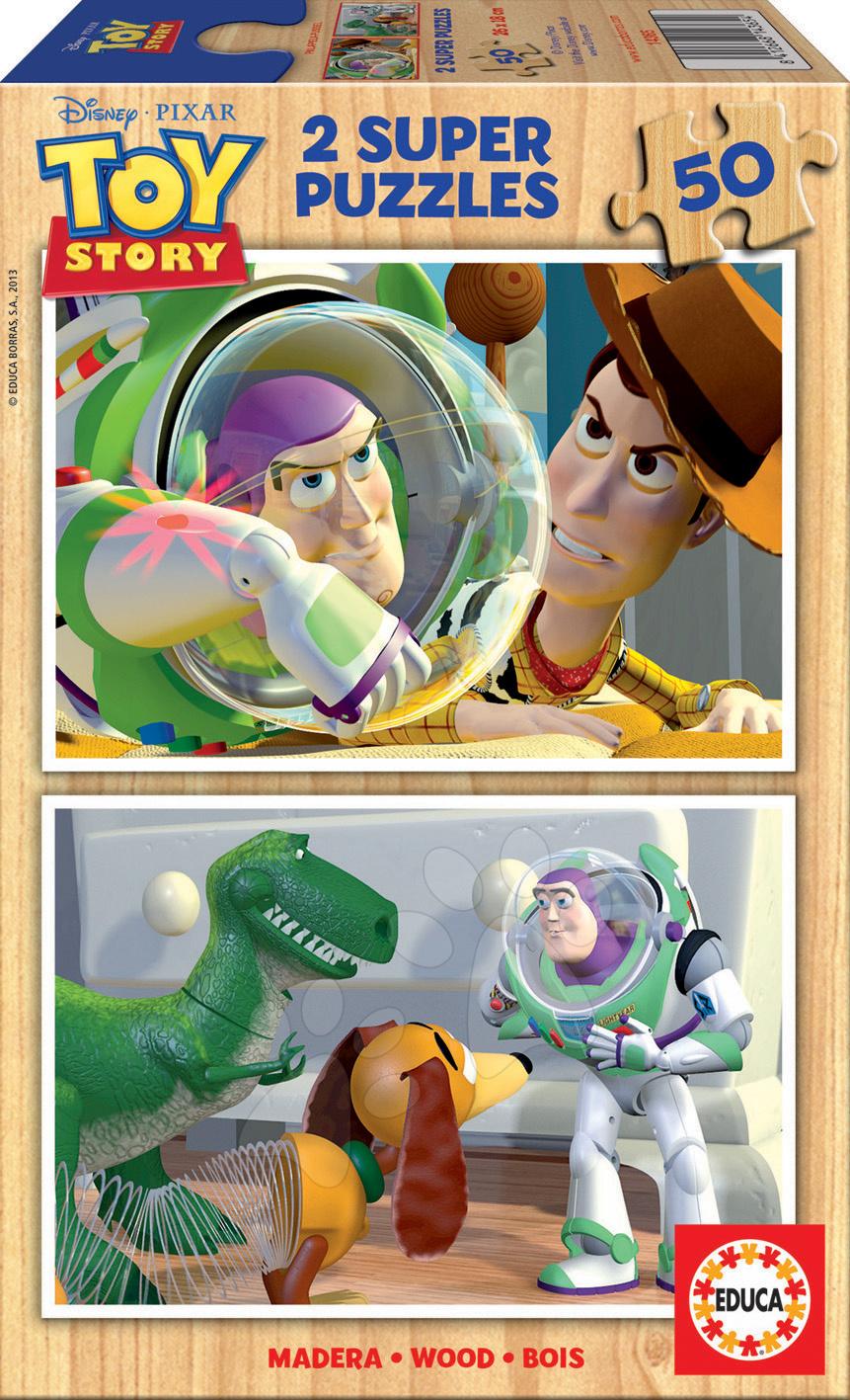 Drevené puzzle Príbeh hračiek Educa 2x50 dielov