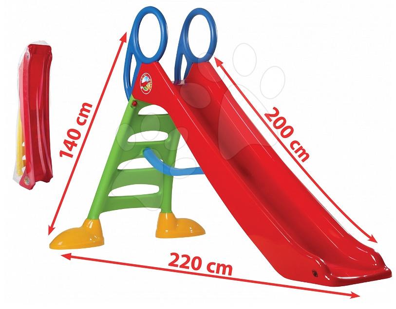 Šmykľavky pre deti  - Šmykľavka Dohány dĺžka 2m červená