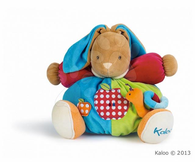 Plyšový zajačik Colors-Chubby Rabbit Apple Kaloo s hrkálkou 30 cm v darčekovom balení pre najmenších
