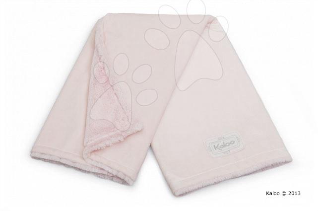 Deka pro nejmenší Perle-Buggy Blanket Kaloo micro-velour růžová od 0 měsíců