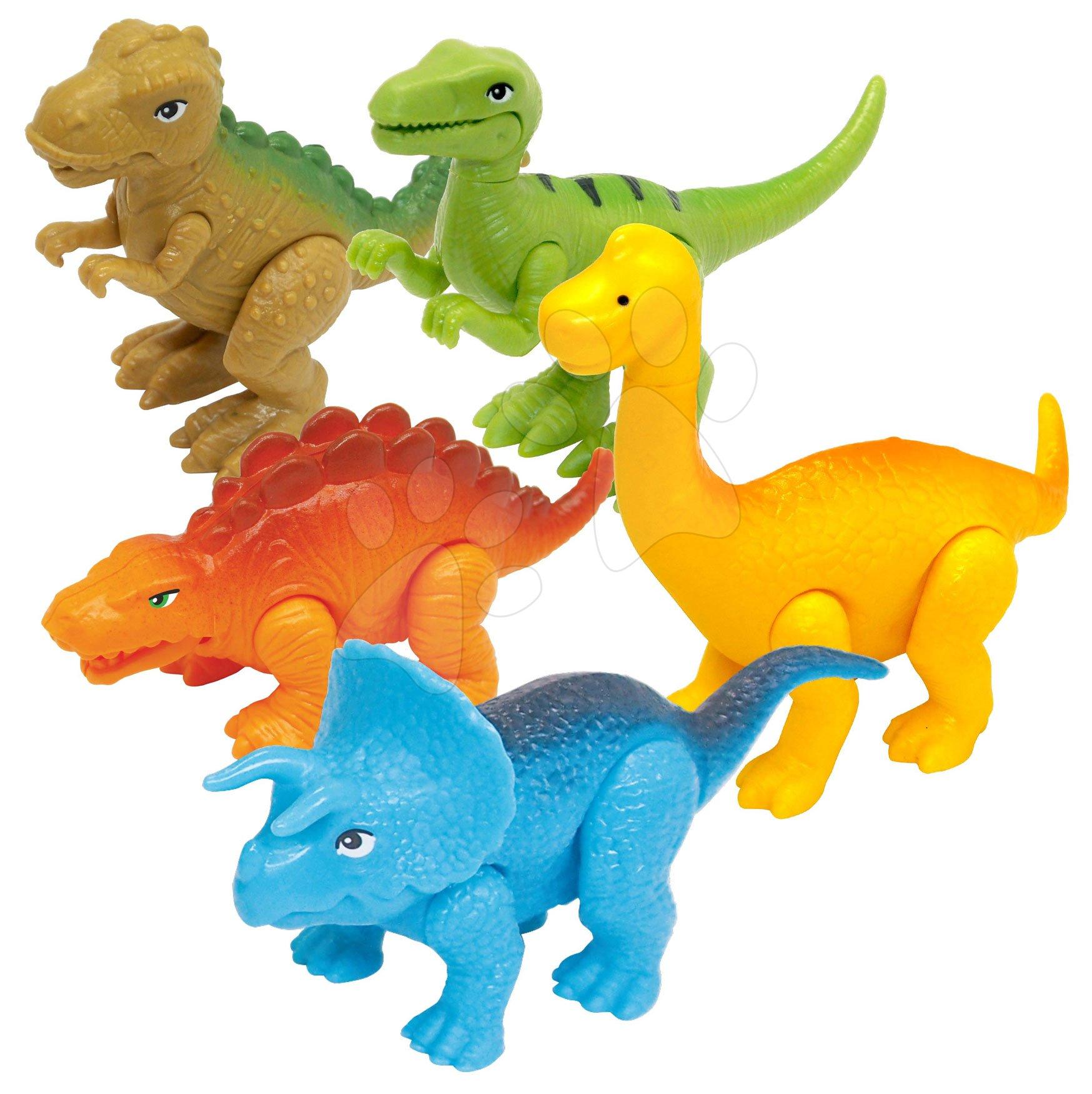 Zvieratká Dinosaurus Kiddieland 5 druhov s pohyblivými časťami a klik zvukom od 12 mes