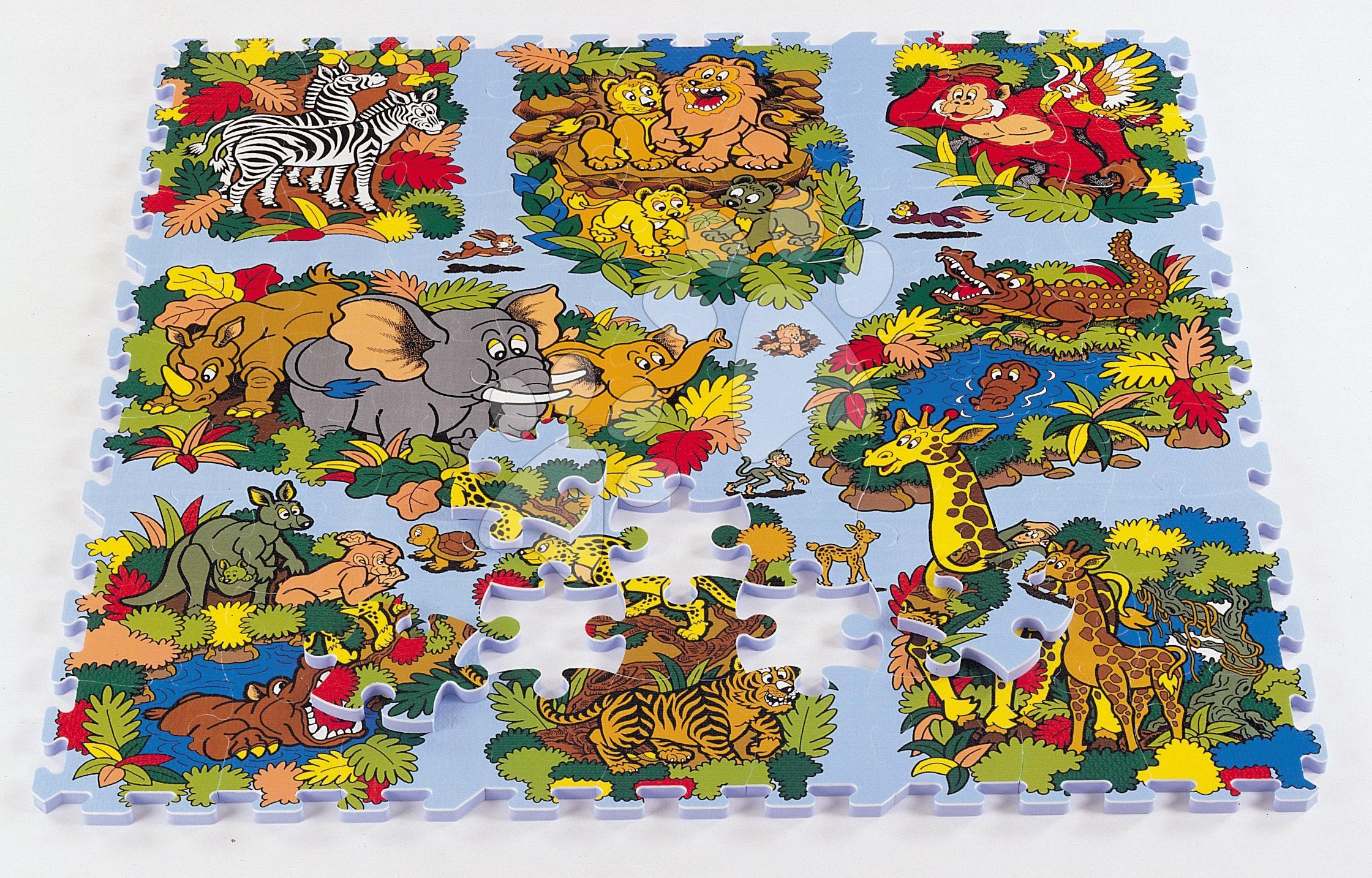 Pěnové puzzle - Pěnové puzzle Animal Land Svět zvířat Lee 81 dílů 92*92*1,4 cm od 0 měsíců