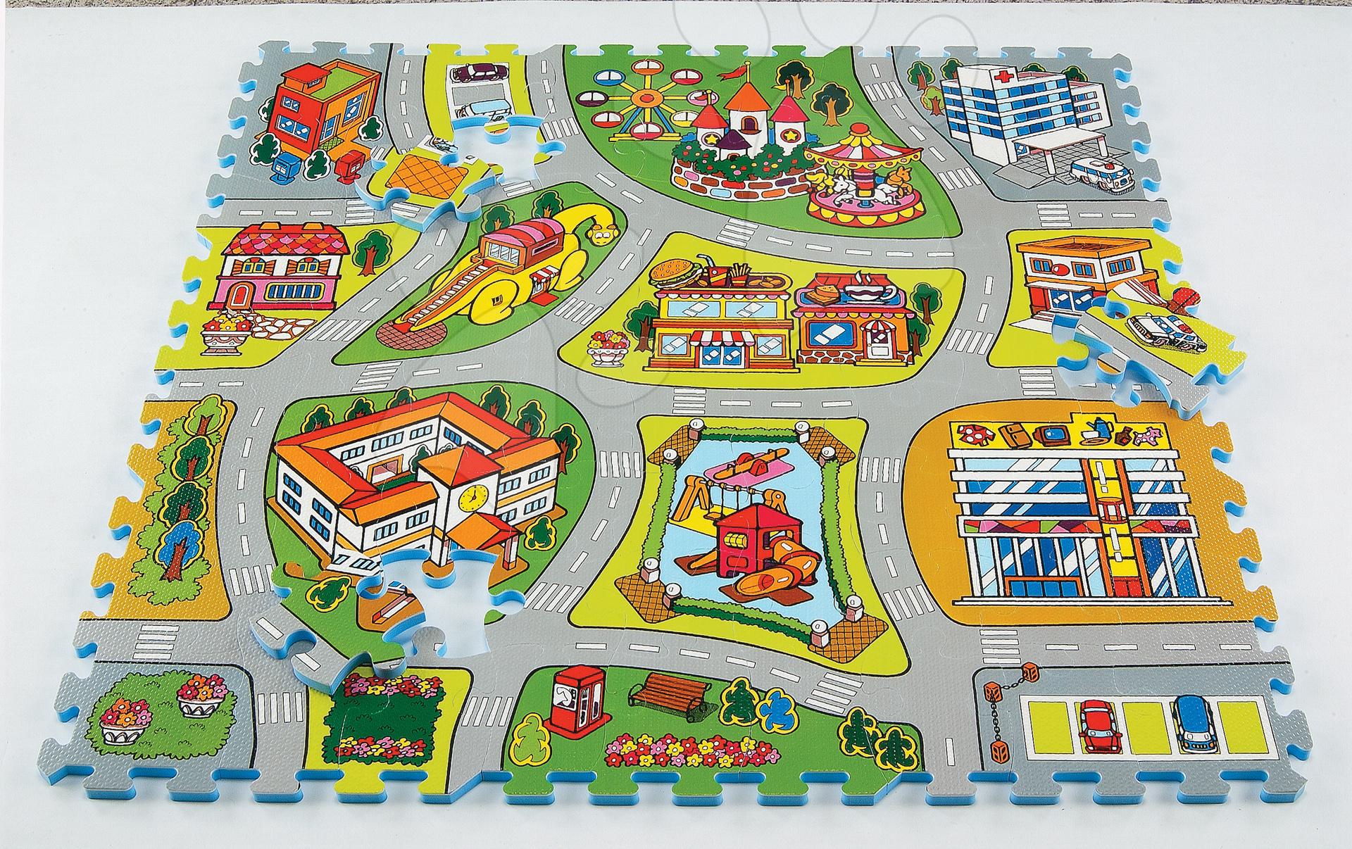 Penové puzzle - Penové puzzle City Map - Mapa mesta Lee 81 dielov 92*92*1,4 cm od 0 mes