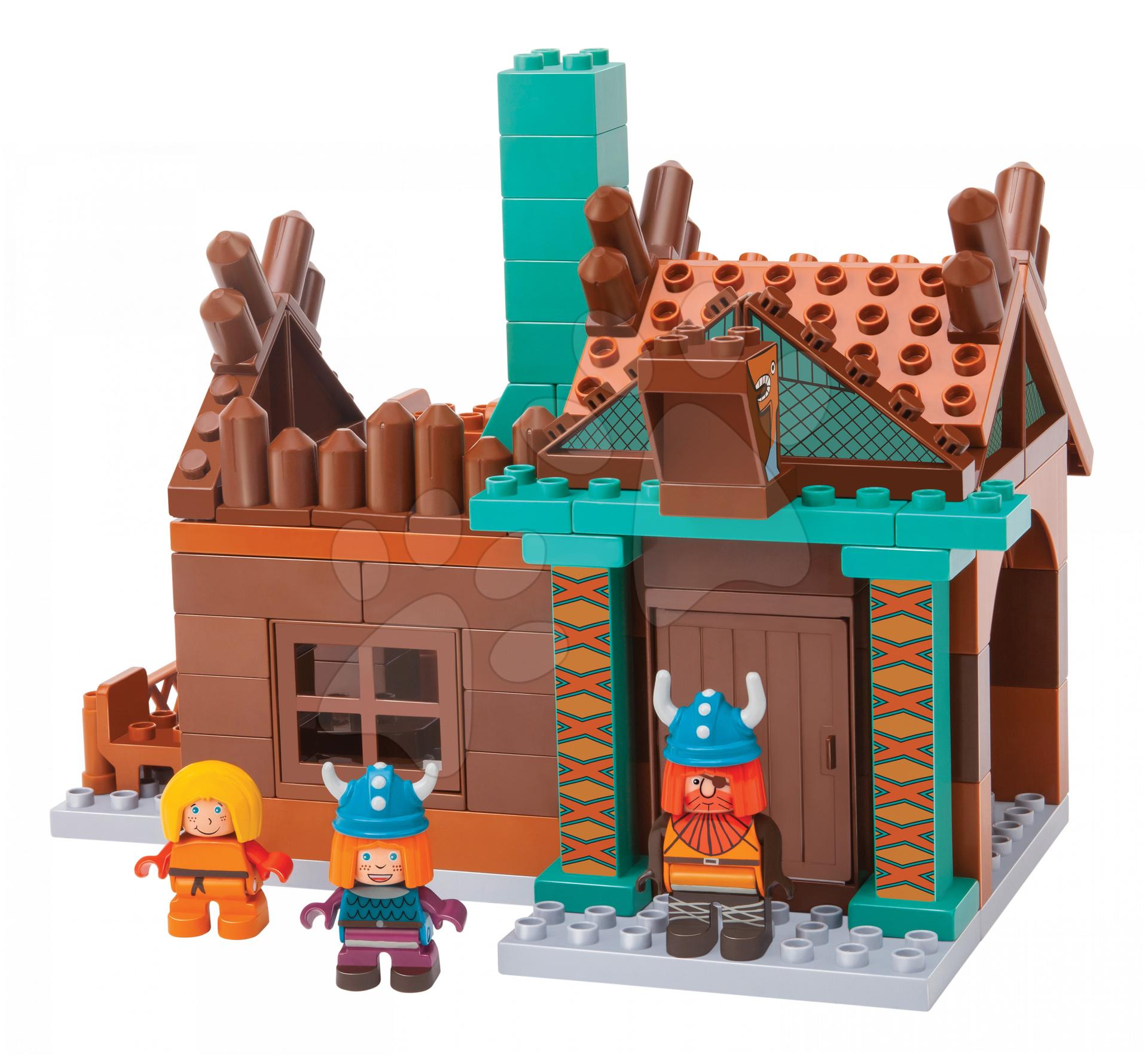 Stavebnice PlayBIG BLOXX Wickie Halvarův dům BIG 3 figurkamy 89 kusů