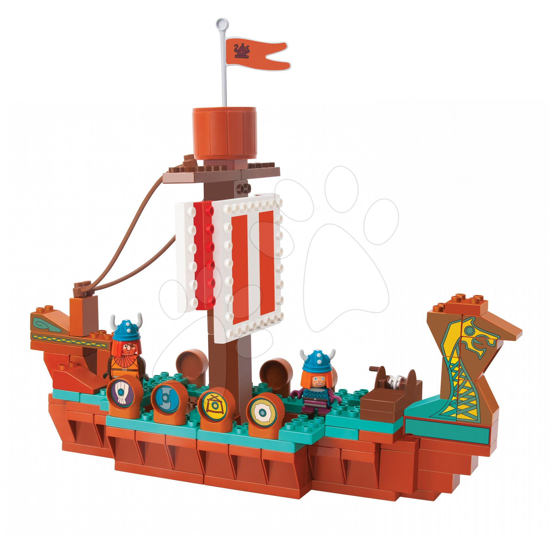 Stavebnice PlayBIG BLOXX Wickie loď vikingů BIG s 2 figurkami 124 kusů
