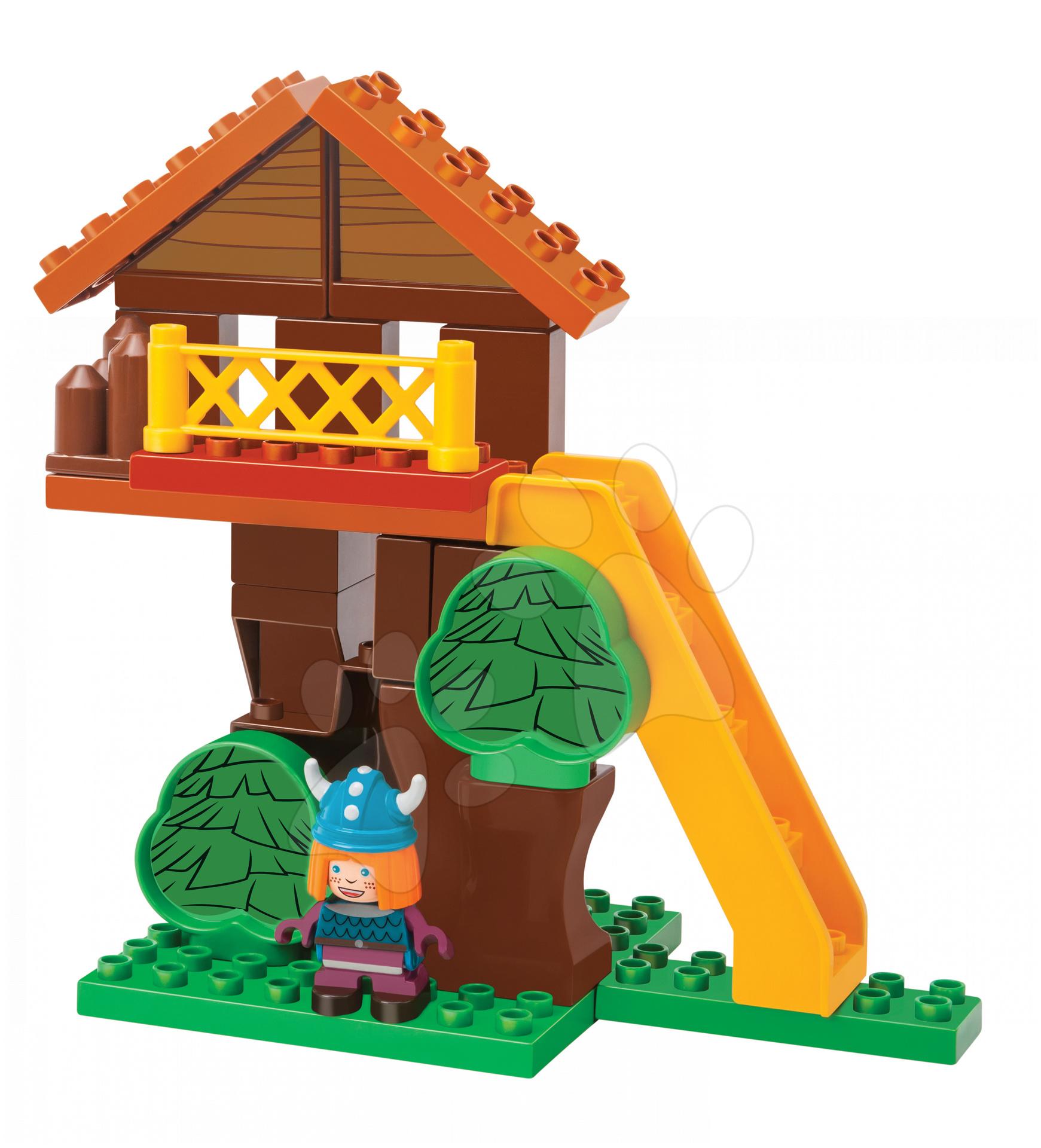Nezaradené - Stavebnica PlayBIG Bloxx BIG Wickie dom na ostrove s 1 figúrkou 24 kusov od 1,5 - 5 rokov