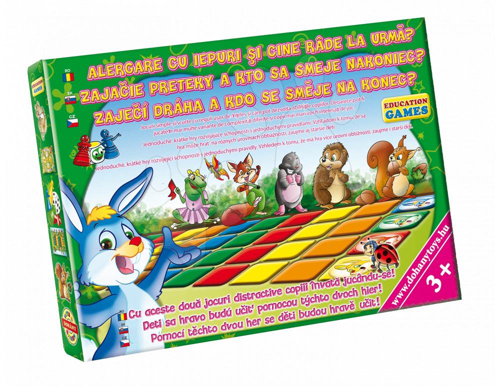 Společenské hry pro děti - Společenská hra Učit se hrou Zaječí závody a Kdo se směje naposledy Dohány zábava pro celou rodinu