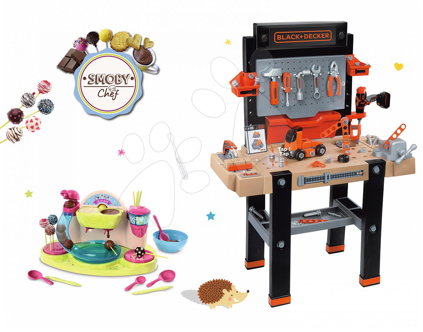 Smoby set dielňa Black+Decker a hravá kuchárka Cukráreň 360702-11