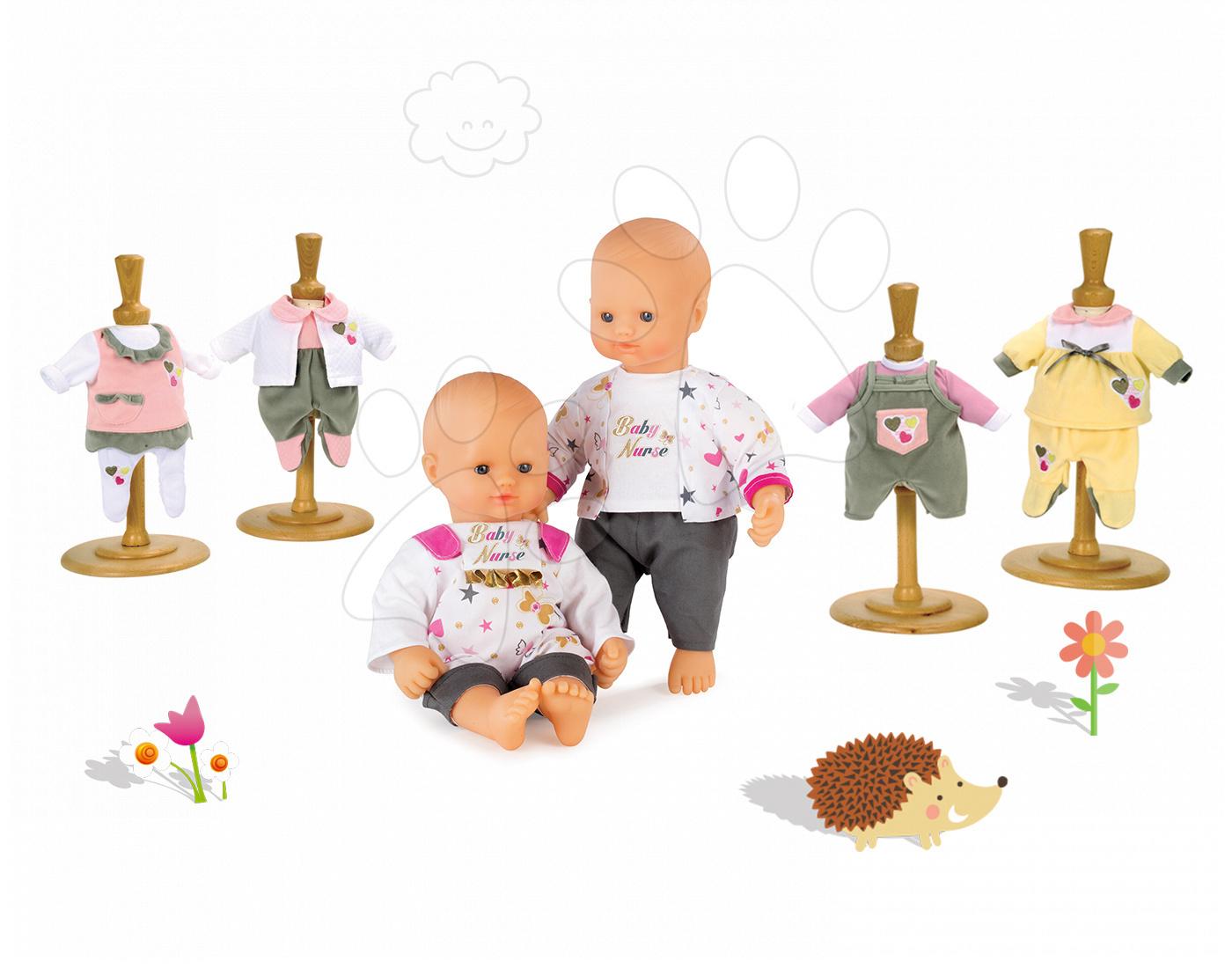 Set panenka Baby Nurse Zlatá edice Smoby 32 cm a 3 šaty pro panenku od 24 měsíců