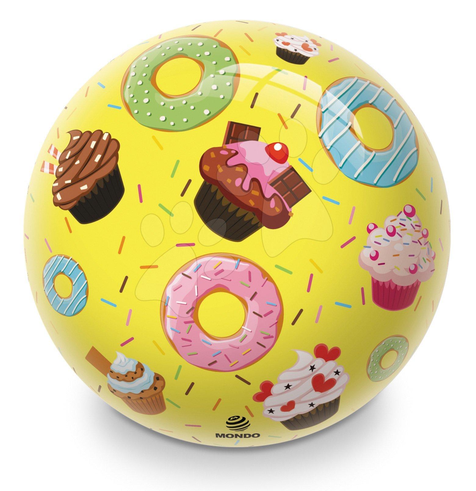 Gumová rozprávková lopta Donuts a Ice Cream Mondo 23 cm
