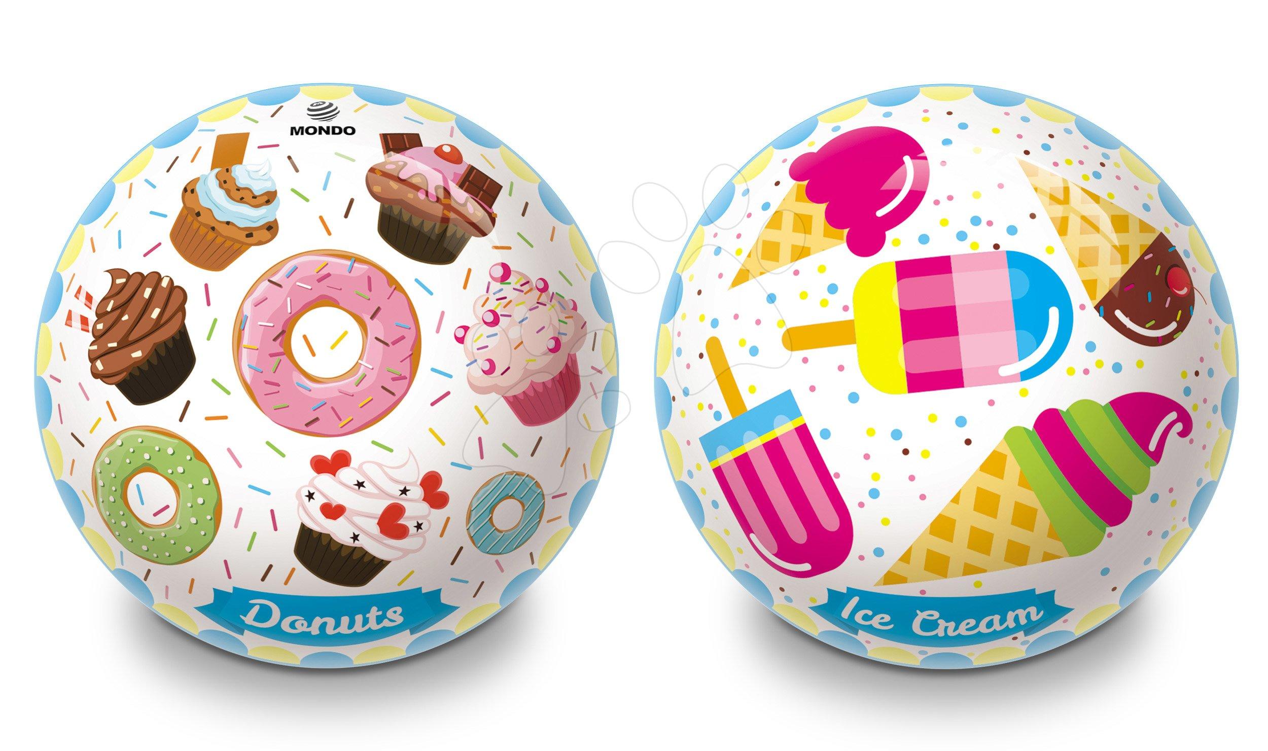Gumový pohádkový míč Donuts a Ice Cream Mondo 23 cm