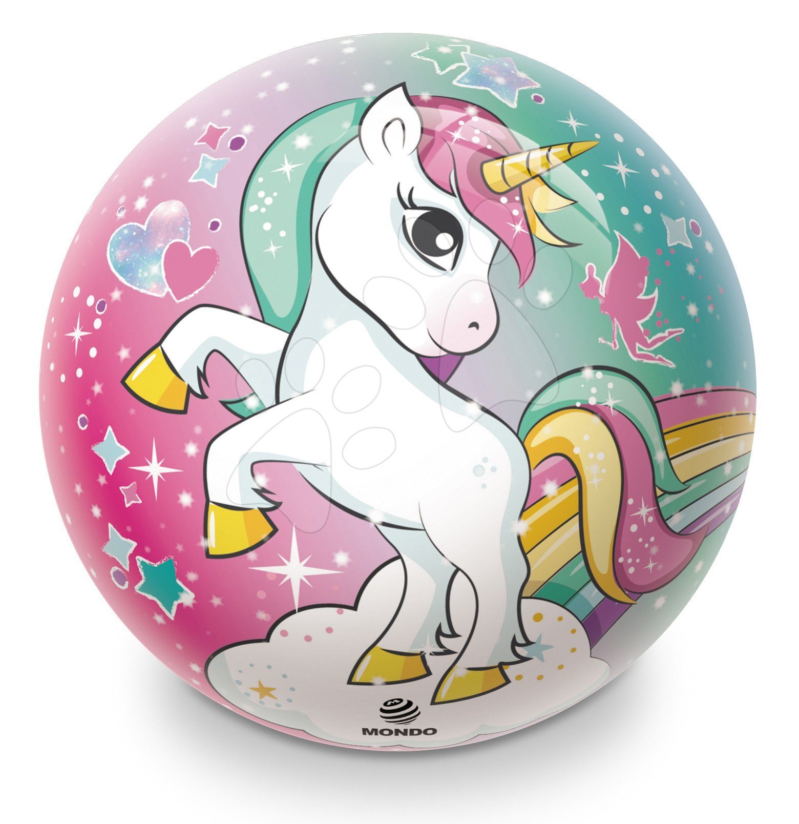 Gumová rozprávková lopta Jednorožec Unicorn Mondo 23 cm
