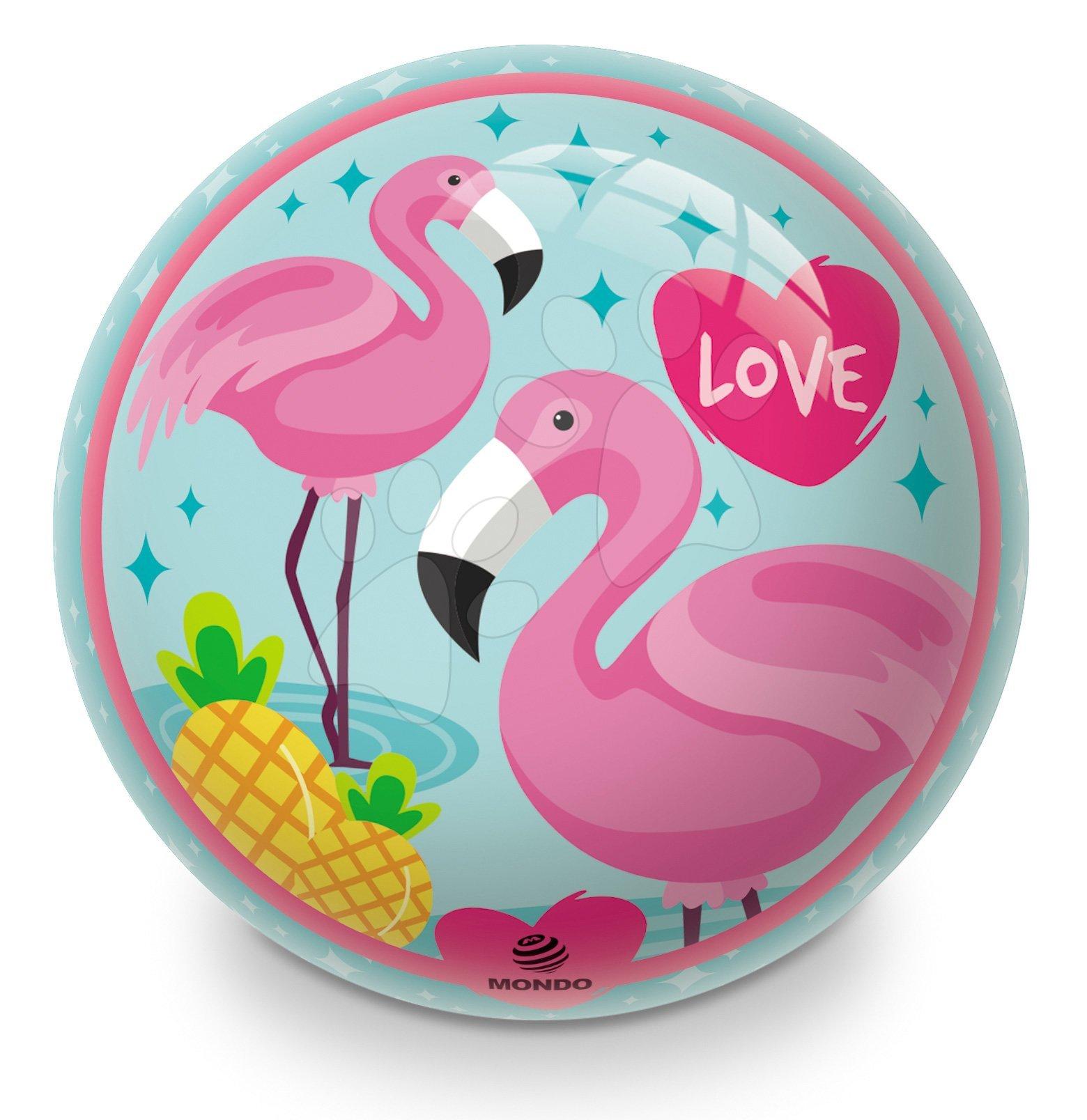 Gumový pohádkový míč Flamingo Mondo 23 cm